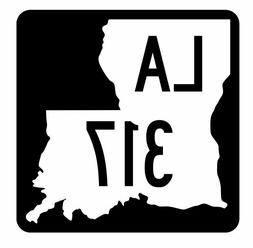 Louisiana State Highway 317 Sticker Decal R5910 Highway Rout