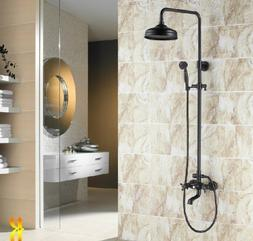 Rozin Luxury Oil Rubbed Bronze Bathroom Shower Faucet Set 8-