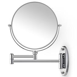Miusco 7X Magnifying Two Sided Vanity Makeup Mirror, 8 inch,