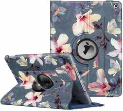 """For Apple iPad 10.2"""" 2019 7th Gen 360 Rotating Stand PU Leat"""