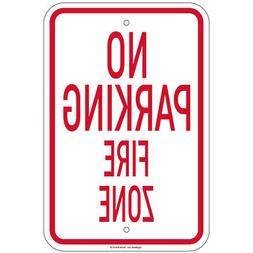no parking fire zone sign 8 x12