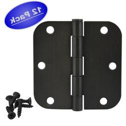 "Cosmas Oil Rubbed Bronze Door Hinge 3.5"" Inch x 3.5"" Inch wi"