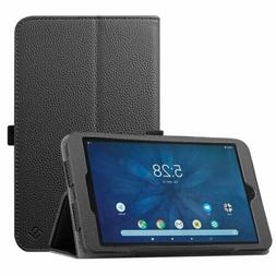 For Onn 8 inch Tablet PU Leather Folio Case Protective Stand