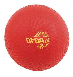 "Champion Sports Playground Ball, 10"" Diameter, Red, Case of"