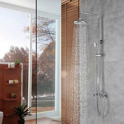 Rain Shower System with 8 Inch Shower Head and Handheld Comp
