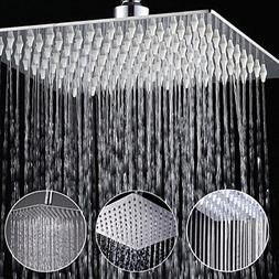 Rainfall Shower Head 8 inch, Solid Stainless Steel Square Ra