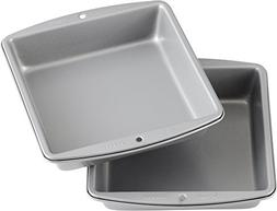 Wilton Recipe Right Square Non-Stick Cake Pan Multipack, 8 i