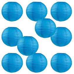 "WYZworks Round Paper Lanterns 10 Pack  - with 8"", 10"", 12"","