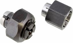 """Superior Electric 2 piece Router Collet Kit 1/4"""" and 1/2"""" Re"""