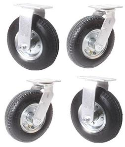 Set of 4 Caster Wheels for Rubbermaid Platform Trucks 2 Rigi