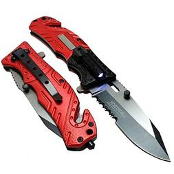 spring assisted open folding tactical