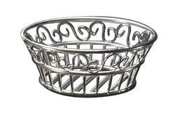 sslb83 stainless scroll bread basket
