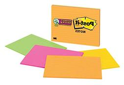 Post-it Super Sticky Notes, 2x Sticking Power, 8 in x 6 in,