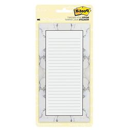 Post-it Super Sticky Printed Note Pads with Magnet, Marble,