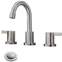 Phiestina Two Handle 3 Hole 8 inch Widespread Bathroom Fauce