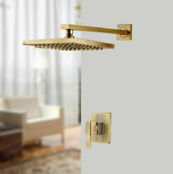 Wall Mount 8 inch Antique Brass Square Rain Shower Head With