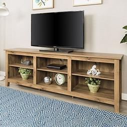 New 70 Inch Wide Barnwood Finish Television Stand