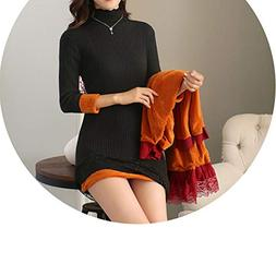 winter women plus thick velvet knit sweater