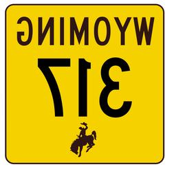 Wyoming Highway 317 Sticker R3508 Highway Sign