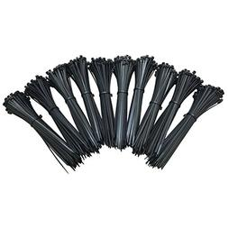 Southern 94 8 Inch Zip Ties 1000 Pack, Black Heavy Duty 75 P